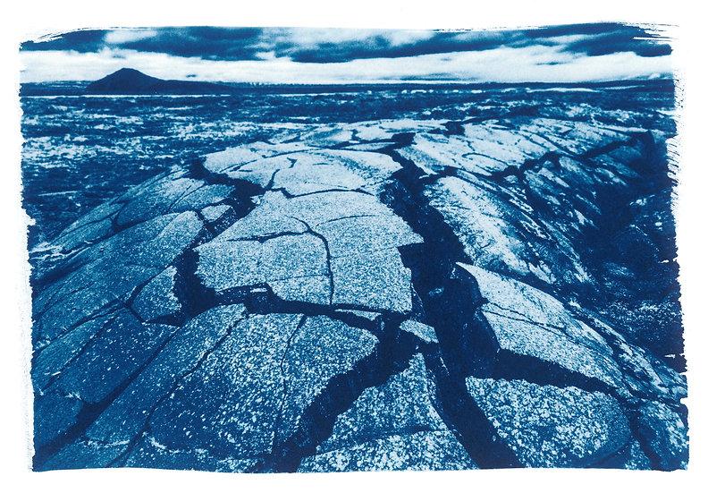 In the depths of Earth // 27 // Original Cyanotype Print