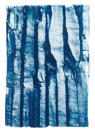 Pillar // 42 // Original Cyanotype Print