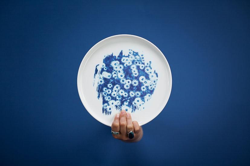 """""""Daisy"""" porcelain plate"""