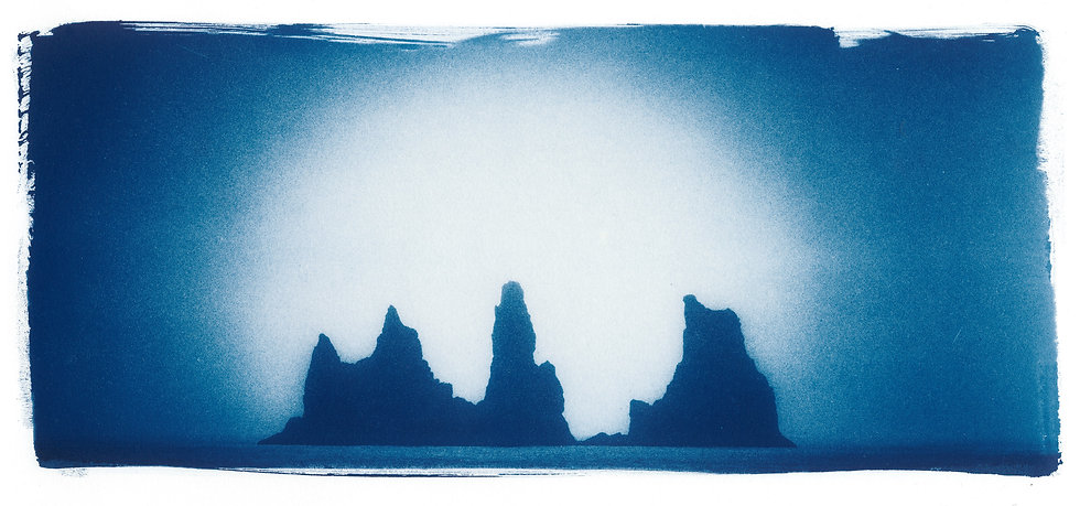 The Rock Troll Toes // 28 // Original Cyanotype Print