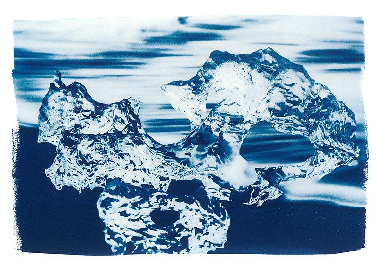 Diamond 1 // 34 // Original Cyanotype Print