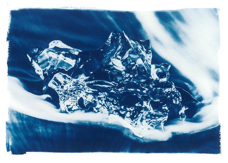 Diamond 3 // 35 // Original Cyanotype Print