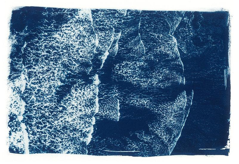 Washed away // 25 // Original Cyanotype Print