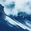 Thumbnail: Mountains high // 32 // Original Cyanotype Print