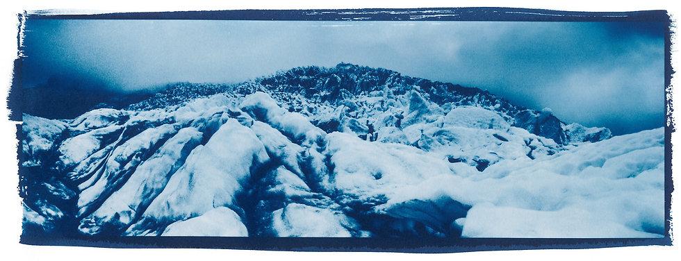 Glacier // 44 // Original Cyanotype Print