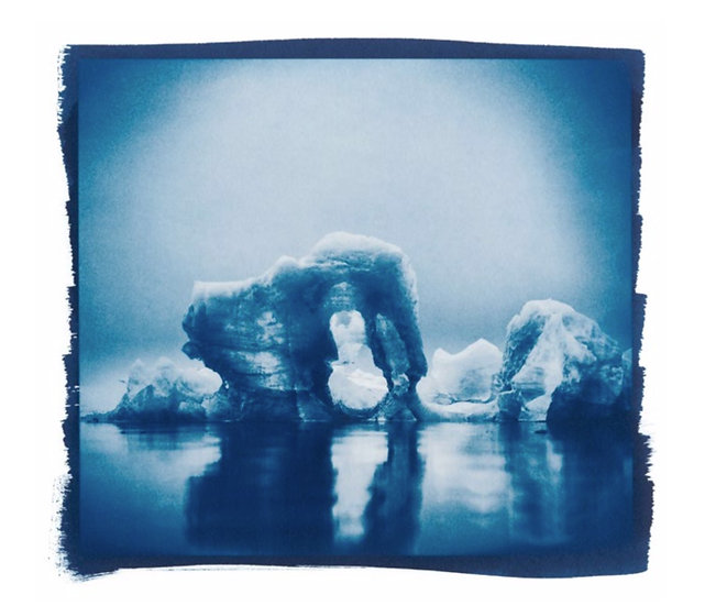 Ice Lagoon // 65 // Mini Cyanotype on Arches Platine Paper