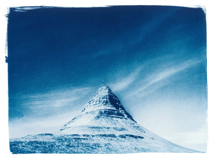 Kirkjufell Mountain // 21 // Original Cyanotype Print