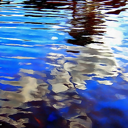Inlet Water 1, Art, Canvas Prints, Abstract Art, Wall Art, Paintings
