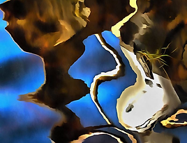 Boat Reflection, Art, Canvas Prints, Abstract Art, Wall Art, Paintings