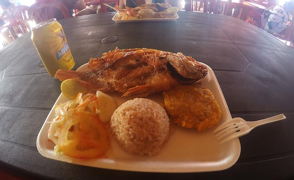 Pescado frito en Cartagena