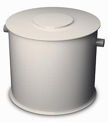 Akumulační nádrž s přepadem