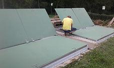 Montáž laminátového zastropení ČOV
