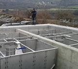 Montáž dosazovacích nádrží