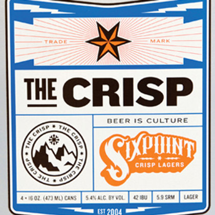 Sixpoint the Crisp Pilsner, Brooklyn NY