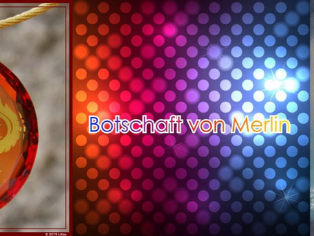 Live-Botschaft von Merlin am Goldenen Drachen-Abend mit den Litios Lichtkristallen