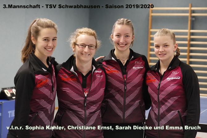 Tischtennis-Regionalliga: Damen III und IV kämpfen um weitere Punkte