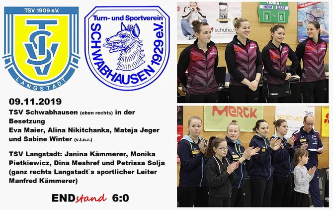 Klare Niederlage der Erstliga-Tischtennis-Damen: Langstadt setzt Duftmarke