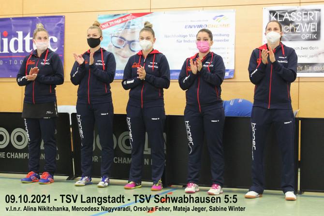 1. Bundesliga Tischtennis: Damen holen sich ein Unentschieden gegen Langstadt