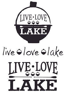 Live Love Lake Decal