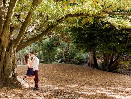 Idaline & Alexandre: une séance d'engagement aux mille couleurs d'automne.