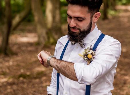 First look:  Quand le futur marié attend avec impatience le moment clé