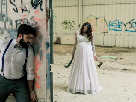 Valentine & Mathieu : Une séance photo Day after post-apocalyptique
