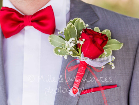 La boutonnière du marié: un accessoire indispensable!