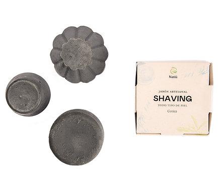 Natiu Jabón para Afeitar - Shaving Ceniza