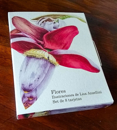 Lisa Anzellini + Caja de tarjetas flores exóticas