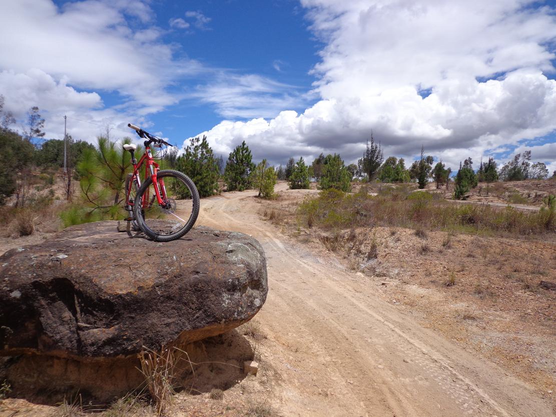 Biking around Villa de Leyva