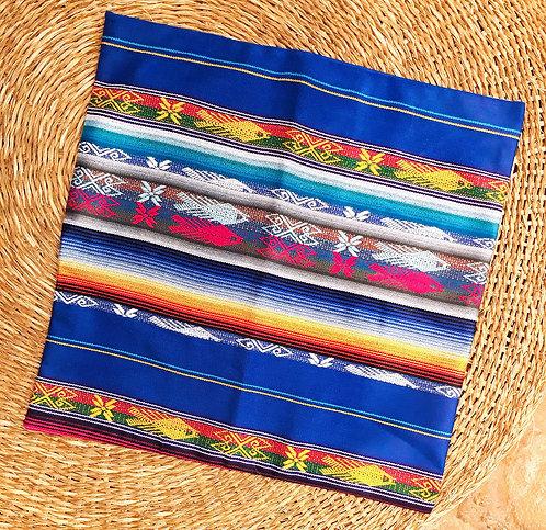 Ruta Textil - Funda para Cojín Aguayo Ecuador