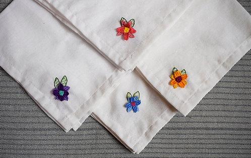 Dechado de Virtudes + servilletas tela flor