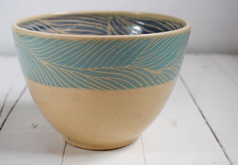 Dega Ceramista + Ensaladera pelilinea turquesa y azul
