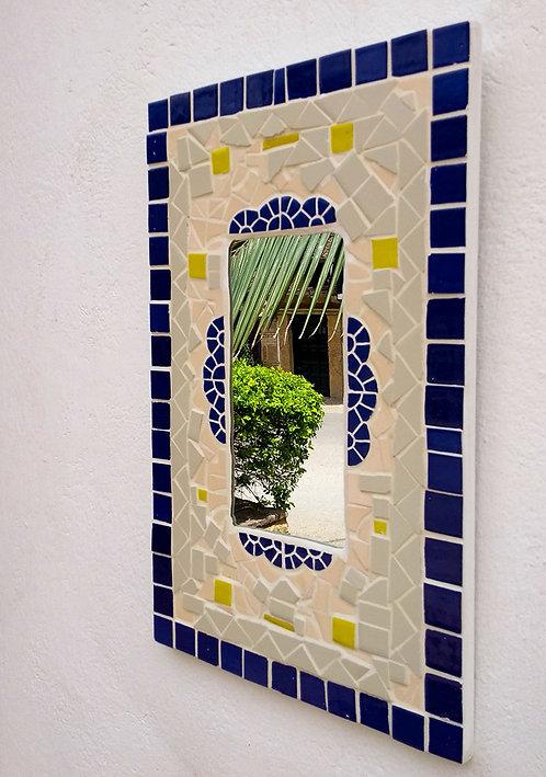 Suaty - Espejo rectangular arabesco