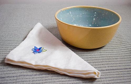 Dega Ceramista + plato salpicado azul Celeste