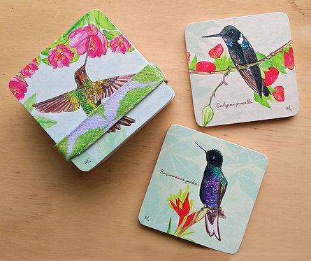 Aledesign + Portavasos colibrí