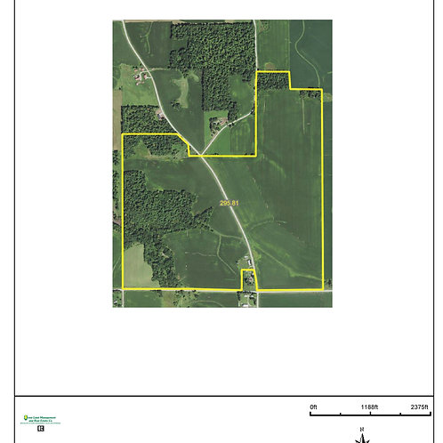 295 Acres in Fayette County! Zone 9.