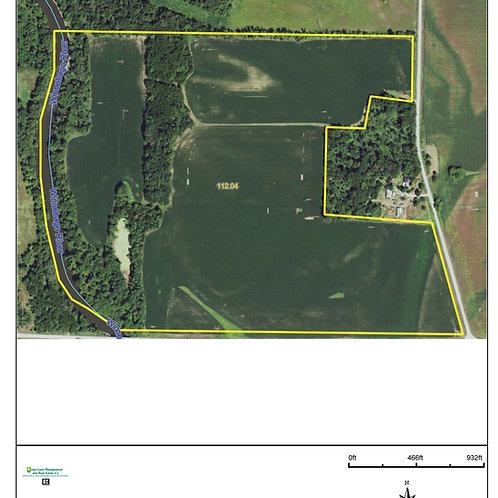 112 Acres is Floyd County, IA. Zone 10.