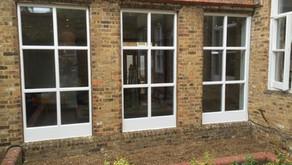 Custom timber windows replaced to Community hall
