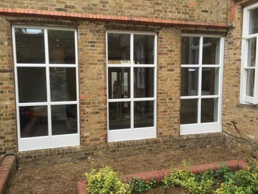 Custom timber windows replaced to Community hall
