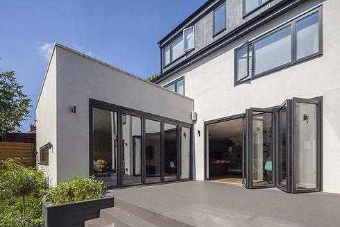 grey bi folding doors