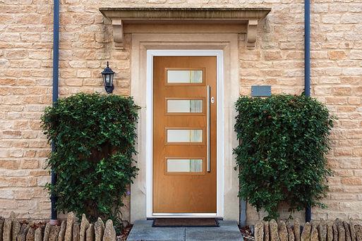 Premium composite door wood effect