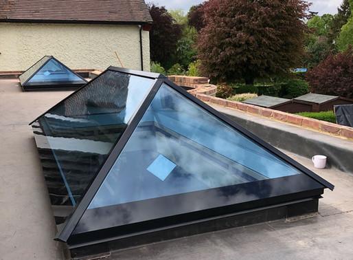 Ultra Modern Slimline Aluminium Roof Lantern For New Build Home