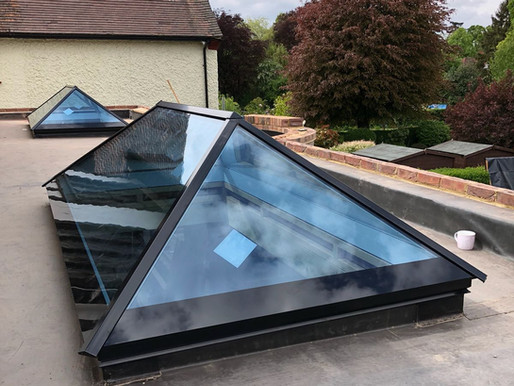 Ultra Modern Slimline Aluminium Roof Lantern For New Build Home