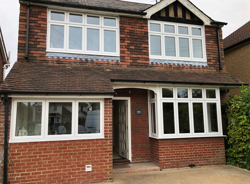 Made to measure UPVC windows transform family home