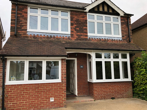 Made to measure UPVC windows transform family home