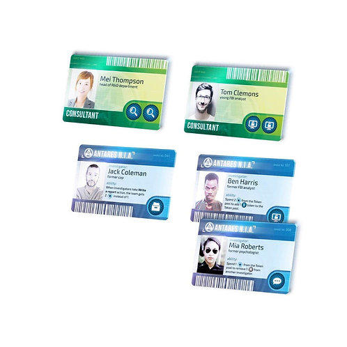 DETECTIVE - PLASTIC CHARACTER IDS (X6)