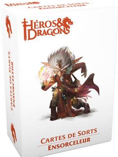 HÉROS & DRAGONS : CARTES DE SORTS ENSORCELEUR
