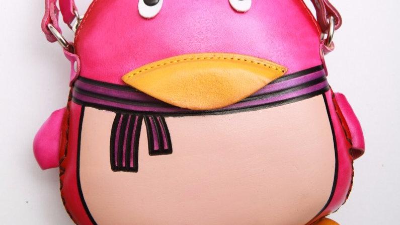 Pink Penguin Bag