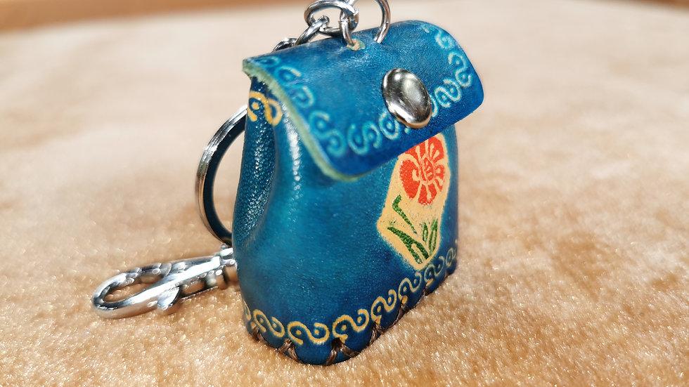 Blue purse keyring
